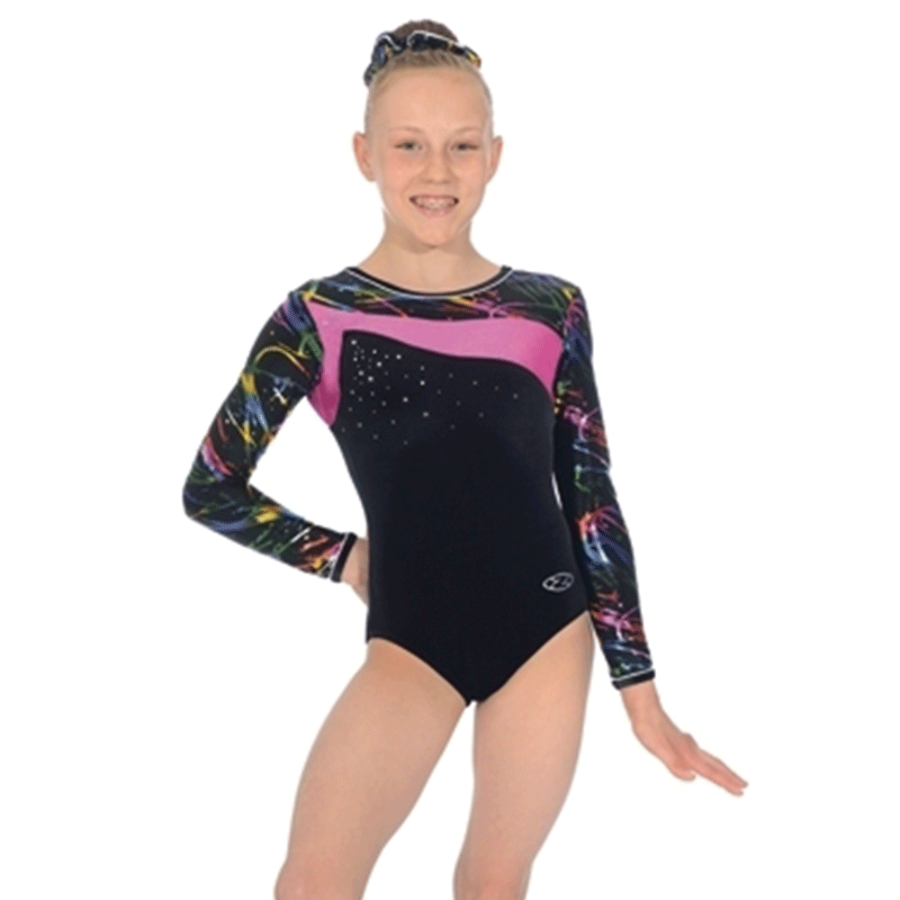 e85024a62ec3 Zone macy long sleeved- Macy Print - Dance Store Direct